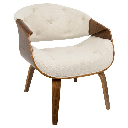 Curvo Mid Century Modern Accent Chair - Lumisource - image 1 of 7