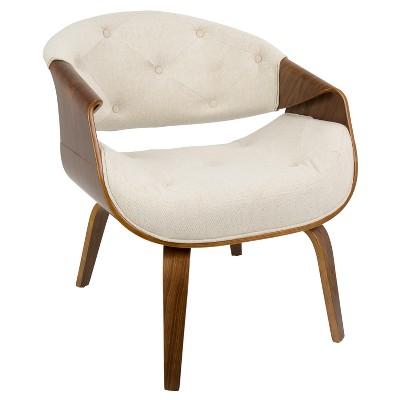 Curvo Mid Century Modern Accent Chair   Lumisource