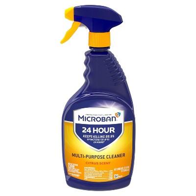 Microban 24 Hour Multi-Purpose Cleaner and Disinfectant Spray, Citrus Scent - 32 fl oz