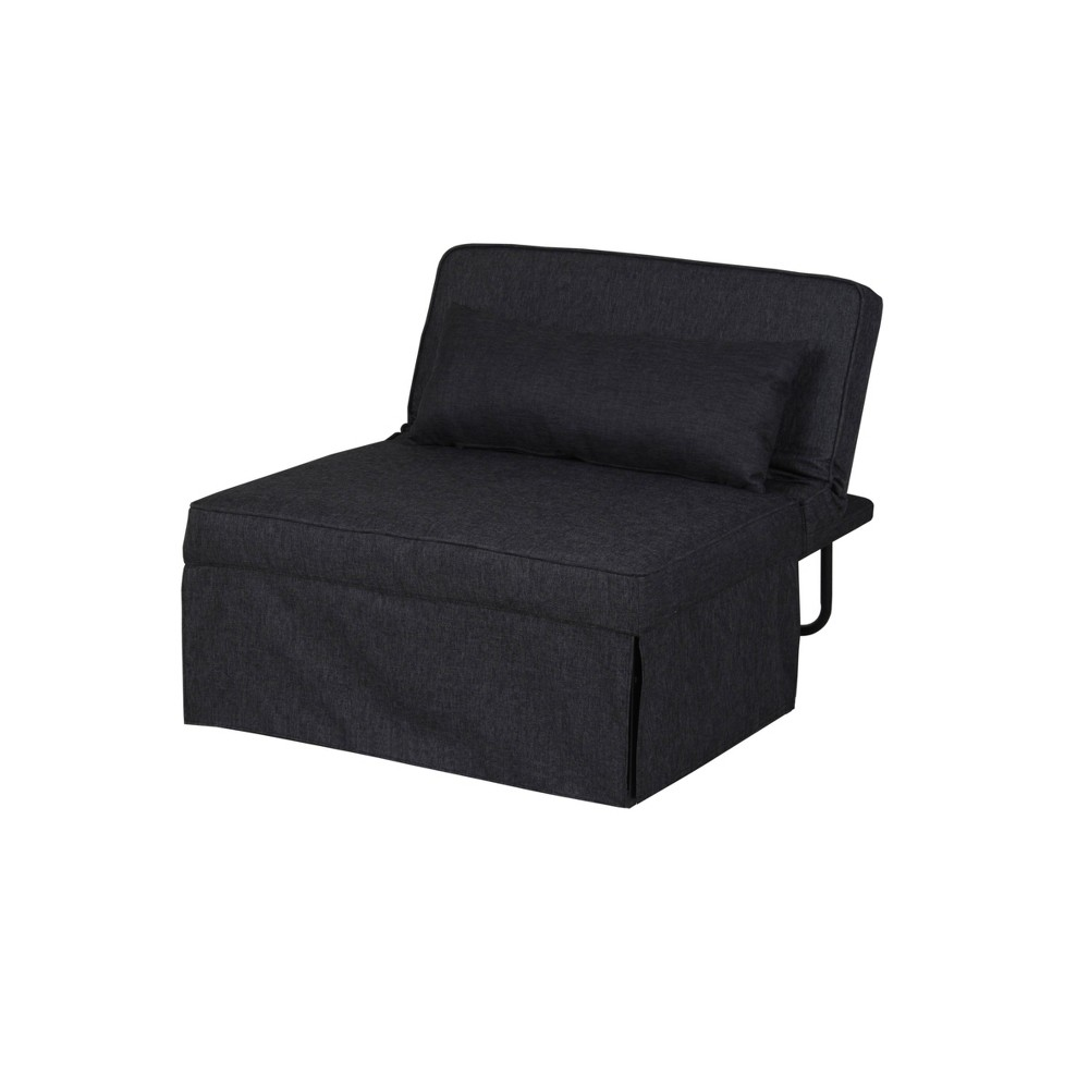 Image of Twin Serta Marina Convertible Ottoman Charcoal Gray - Lifestyle Solutions