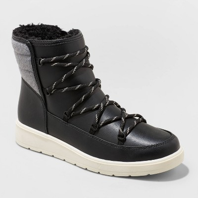 Women's Lena Puff Collar Lace-Up Boots - Universal Thread™