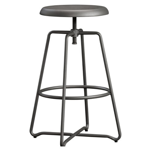 Fantastic Cannery Bridge Adjustable Wrought Metal Counter Stool Gray Sauder Pdpeps Interior Chair Design Pdpepsorg