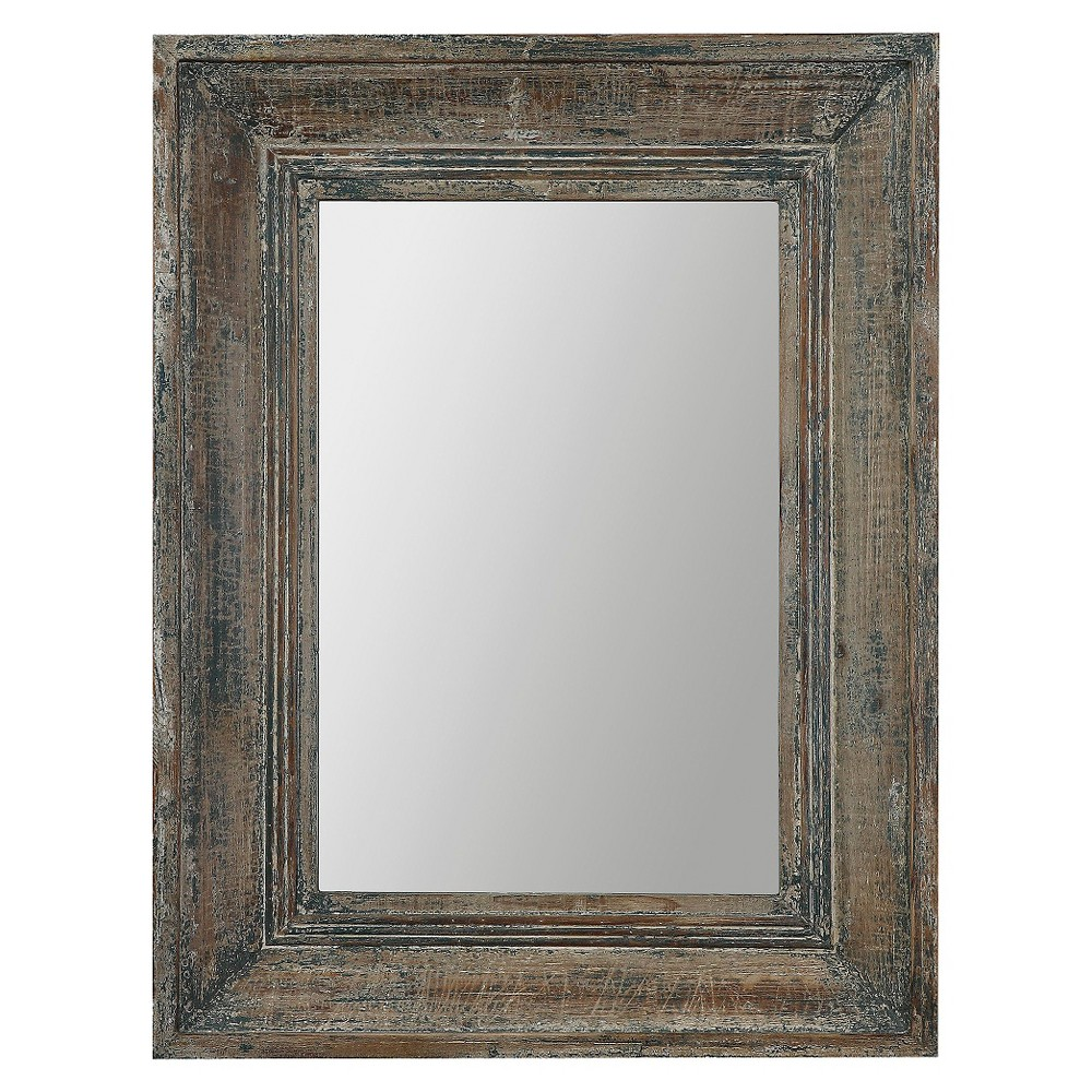 Rectangle Missoula Decorative Wall Mirror - Uttermost, Brown