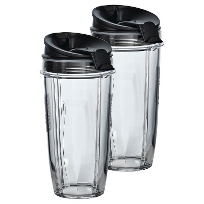 Two 24 oz. Tritan™ Nutri Ninja® Cups with two Sip & Seal Lids®