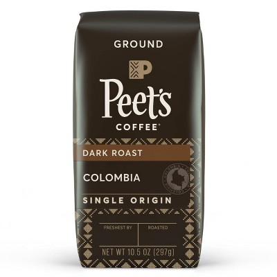 Peet's Colombia Single Origin Dark Roast Ground Coffee 10.5oz