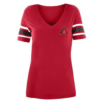MLB Arizona Diamondbacks Women's Pitch Count V-Neck T-Shirt