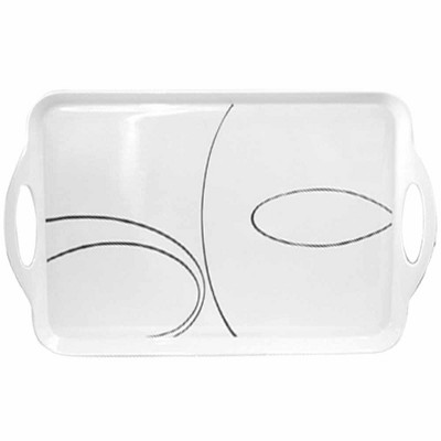 Corelle Melamine Service Tray - Simple Lines