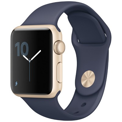 Apple® Watch Series 1 42mm Gold Aluminum Case with Midnight Blue Sport Band