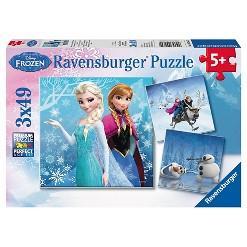 Ravensburger Disney Frozen: 3pk Adventures 147pc Puzzle