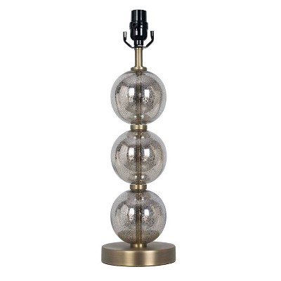 Stacked Glass Ball Table Lamp Base Brass - Threshold™