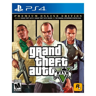 Grand Theft Auto V: Premium Online Edition – PlayStation 4 – Target