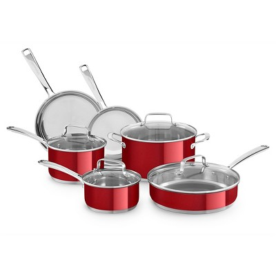 KitchenAid 10 Piece Stainless Steel Cookware Set - KC2SS10