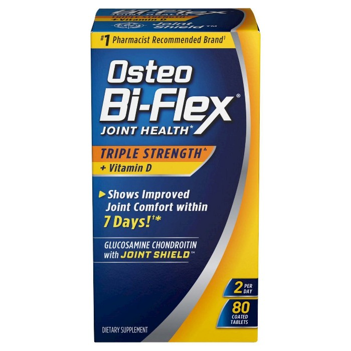 Osteo Bi-Flex Triple Strength & Vitamin D Joint Health Dietary Supplement Coated Tablets - 80ct - image 1 of 1