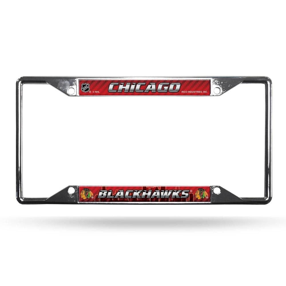 Nhl Chicago Blackhawks View Chrome License Plate Frame