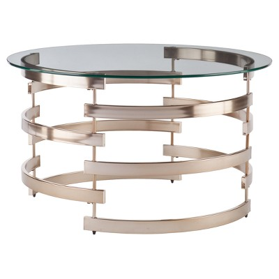 Bevmar Cocktail Table - Champagne - Aiden Lane