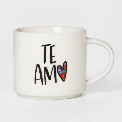 16oz Porcelain Te Amo Mug White - Threshold™