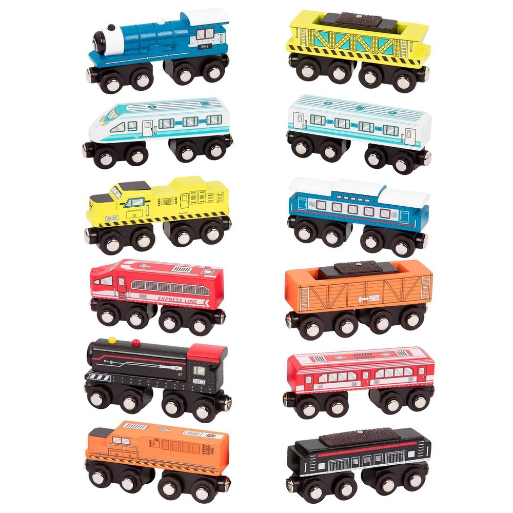 B Toys Wooden Train 1pc Wood 38 Wheels 1 Of 12 Surprise