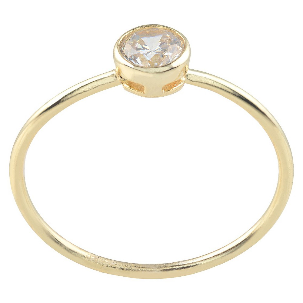 1/4 CT. T.W. Journee Collection Round Cut CZ Bezel Set Circle Ring in Sterling Silver - Gold (5)