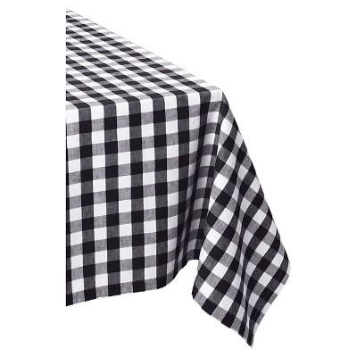 Black & White Checkers Tablecloth (52 X52 )- Design Imports