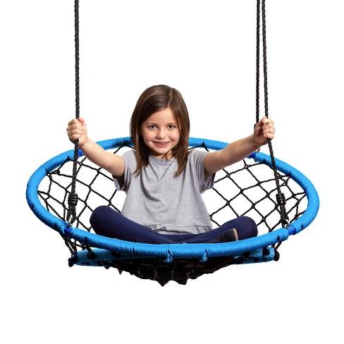JumpOff Jo Little Jo's Web Chair Swing, Blue - image 1 of 4