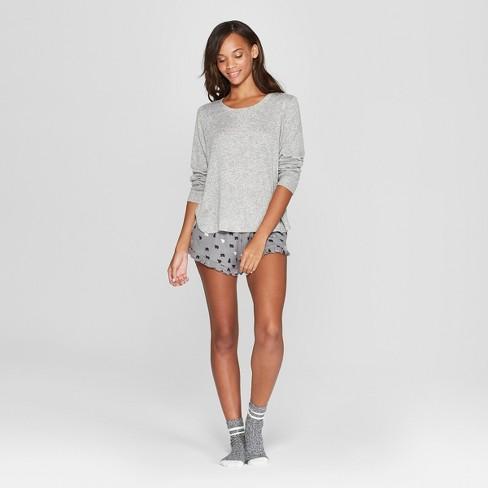 8da4f742bd1e Women s Cozy 3pc Bear Pajama Set - Xhilaration™ Gray   Target