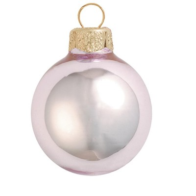 "Northlight 12ct Baby Pink Shiny Finish Christmas Ball Ornaments 2.75"" (70mm)"
