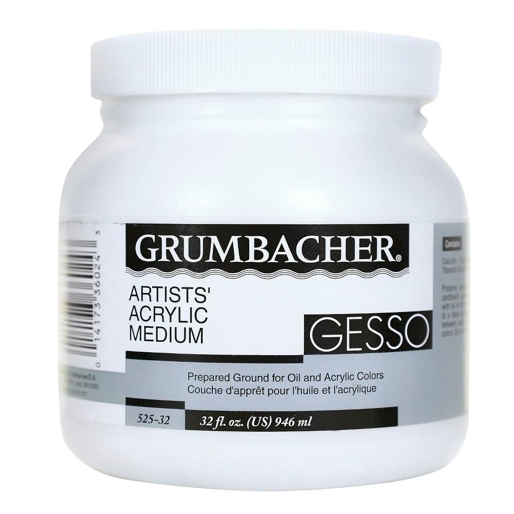 Image of Grumbacher Acrylic Gesso - 32oz, Size: 32 oz, White