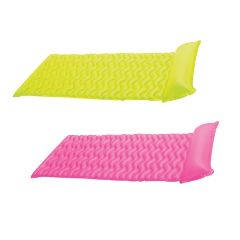 Intex Tote 'N Float Wave Mat Floating Swimming Pool Lounger w/ Headrest (2 Pack) - image 1 of 4
