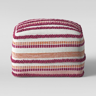 Lory Pouf Pink and Orange Textured - Opalhouse™
