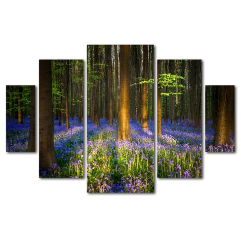 'Mystical Forest' by Mathieu Rivrin Ready to Hang Multi Panel Art Set - image 1 of 3