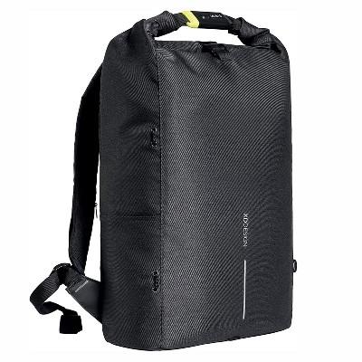 XD Design Urban Lite Anti Theft Laptop Travel Backpack with Shoulder Strap, Detachable Elastic Net, Bottle Holder, and RFID Protection, Black