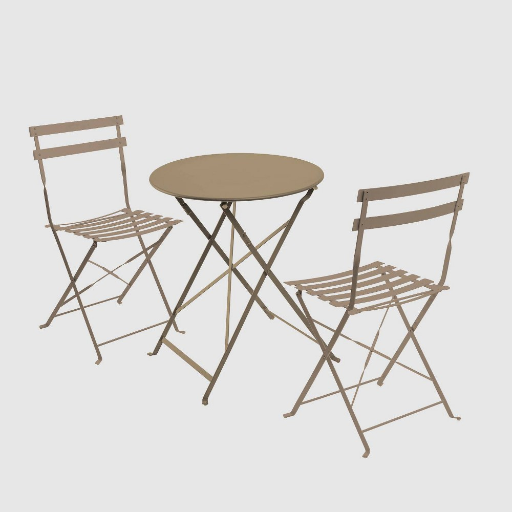 Café Indoor/Outdoor 3pc Bistro Set - Coffee (Brown) - Jamesdar