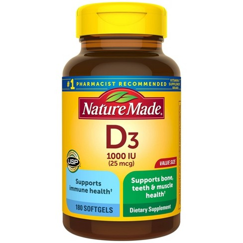 Nature Made Vitamin D3 Dietary Supplement Liquid Softgels - image 1 of 4