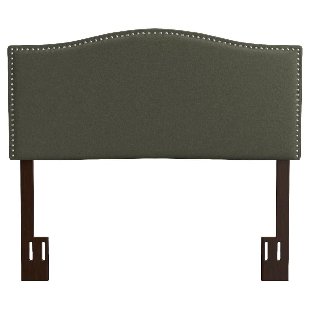 Lawler Upholstered Linen Headboard - Basil Green (Full/Queen)