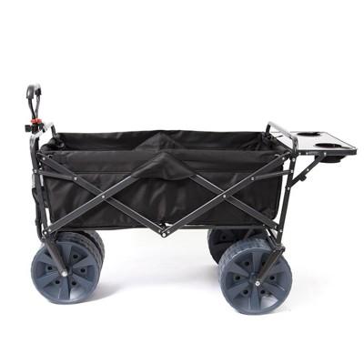Mac Sports Collapsible Heavy Duty All Terrain Utility Wagon w/ Table, Black