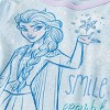 Girls' Frozen 4pc Pajama Set - Blue/Purple - image 3 of 3