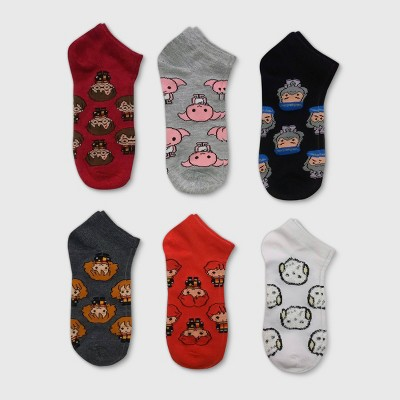 Women's Harry Potter 6pk Low Cut Socks - Color May Vary 4-10