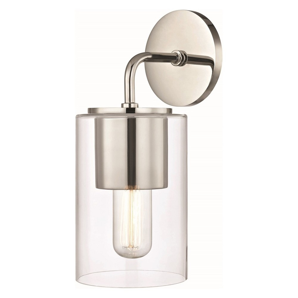 1pc Lula Wall Sconce Brushed Nickel - Mitzi by Hudson Valley