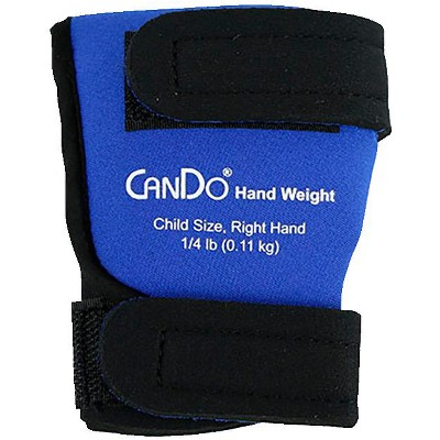 CanDo Palm Weights, Child Size Right Hand, 1/4 pound