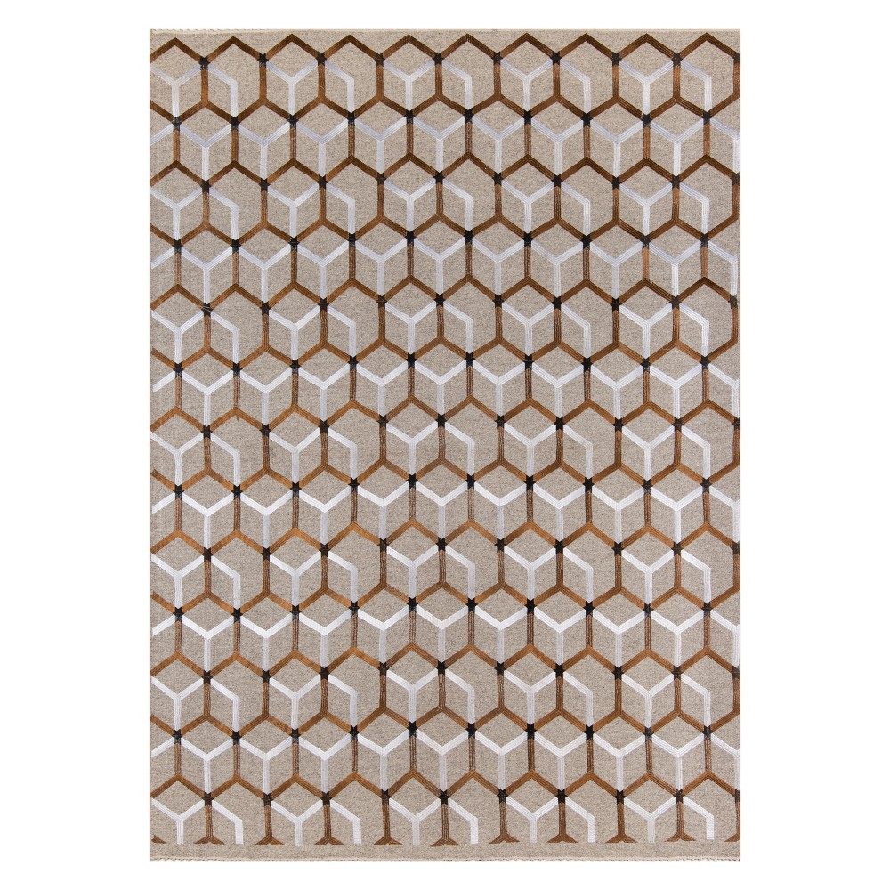 5'X8' Geometric Woven Area Rug Copper - Momeni, Brown