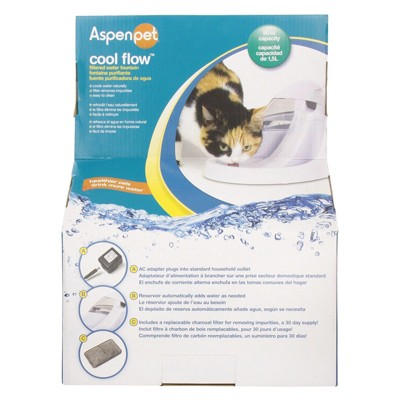 ASPEN Pet Fresh Flow Purifying Fountain <br>Automated Pet Waterer - White