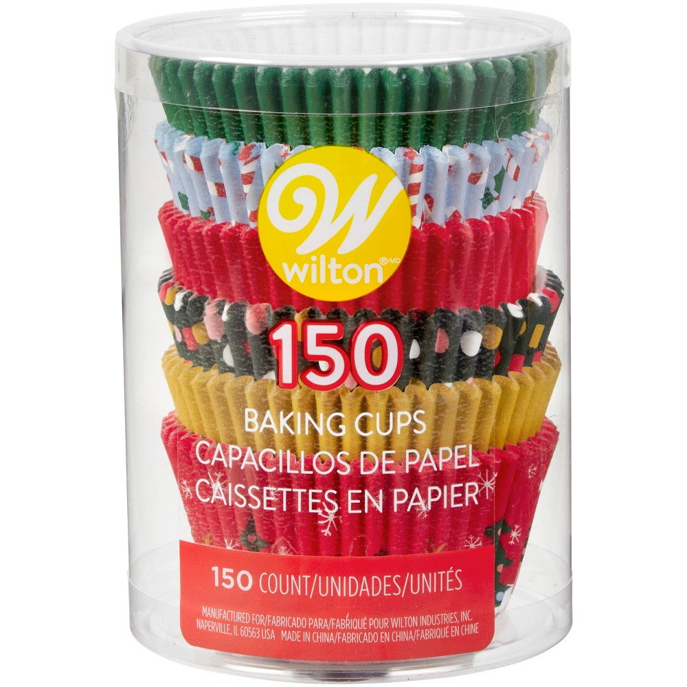 150pk Disposable Holiday Baking Cups - Wilton, Multi-Colored