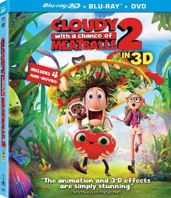 Cloudy With a Chance of Meatballs 2 (3D) (Blu-ray + DVD + Digital)