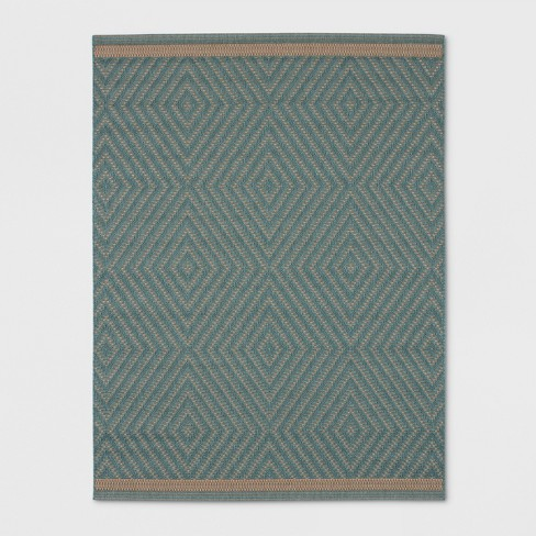 Textured Diamond Outdoor Rug Azure - Smith & Hawken™ - image 1 of 4