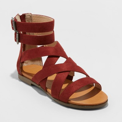 view Women's Rosalee Microsuede Gladiator Sandals - Universal Thread on target.com. Opens in a new tab.