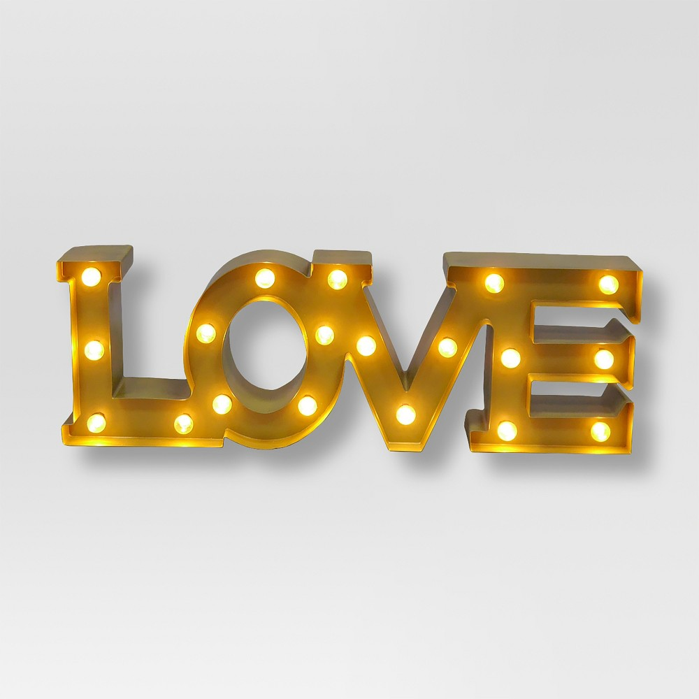 Image of Love Marquee Wall Light - Threshold , Gold