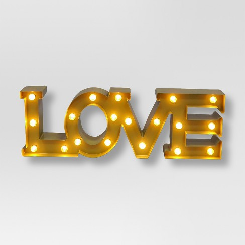 Love Marquee Wall Light - Threshold™ - image 1 of 1