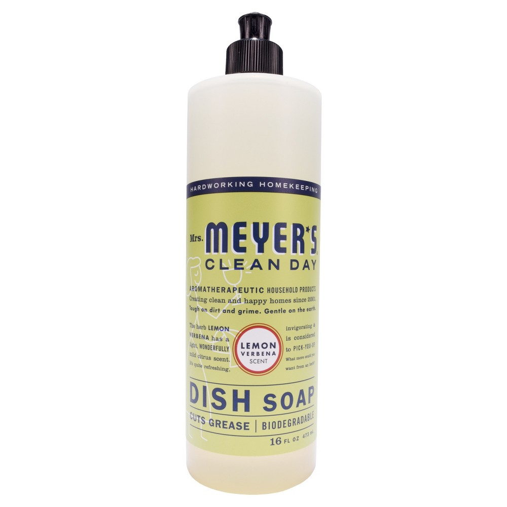 Mrs. Meyer's Clean Day Liquid Dish Soap Lemon Verbena - 16oz Bottle
