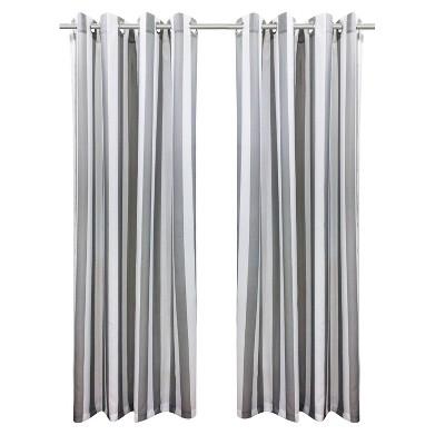 Set of 2 Bimini Striped Grommet Top Curtain Panels - Outdoor Décor