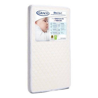 Graco Ultra 2-in-1 Premium Foam Dual-Sided Crib & Toddler Mattress